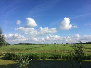 De wolkenlucht boven Benschop zondag